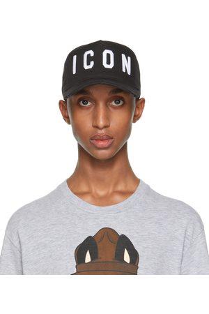 Dsquared2 Men Caps - Black & White 'Icon' Baseball Cap