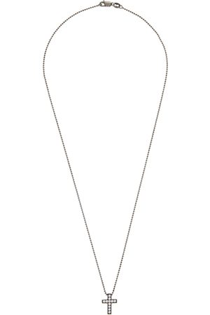 Dsquared2 Gunmetal Crystal Cross Necklace