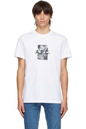 A.P.C. Men T-shirts - White Graphic Teddy T-Shirt