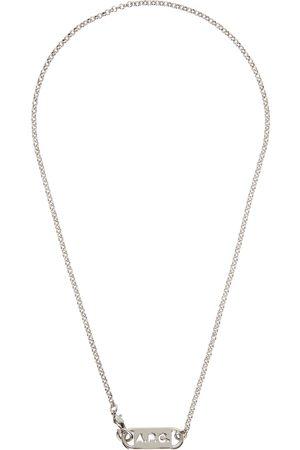 A.P.C. Men Necklaces - Silver Hugo Necklace