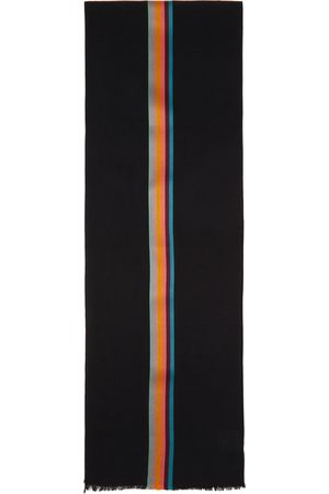Paul Smith Black Artist Stripe Scarf