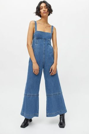 Urban Outfitters UO Penny Denim Wide Leg Jumpsuit