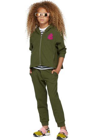Marni Hoodies - Kids Khaki Embroidered Logo Hoodie