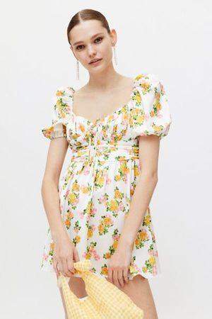 For Love & Lemons Emma Floral Mini Dress