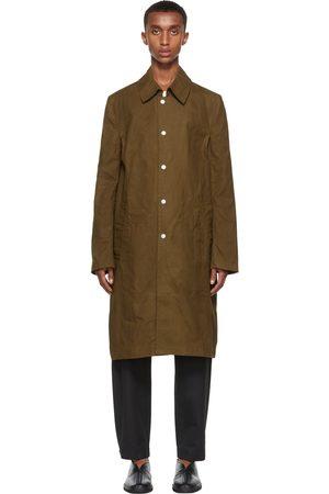3MAN Khaki Slim Snap Trench Coat
