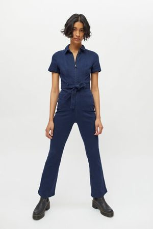 Urban Outfitters Women Dresses - UO Stephie Short Sleeve Coverall Jumpsuit