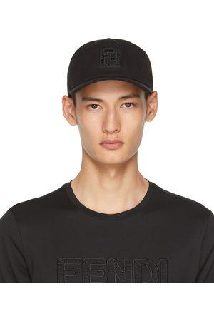 Fendi Men Caps - Black 'FF' Cap