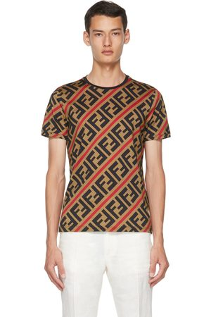 Fendi Men T-shirts - Brown 'Forever ' T-Shirt