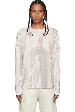A-cold-wall* Beige Erosion Long Sleeve T-Shirt