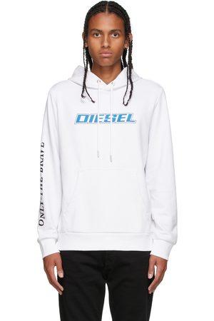 Diesel White Logo Hoodie