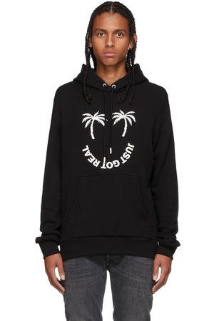 Diesel Black Palm Print Hoodie
