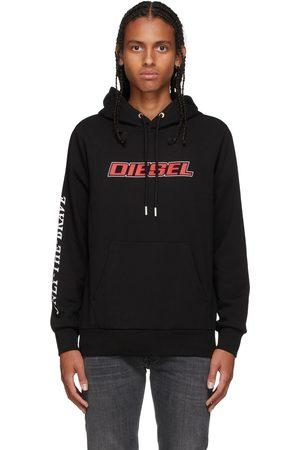 Diesel Black Logo Print Hoodie