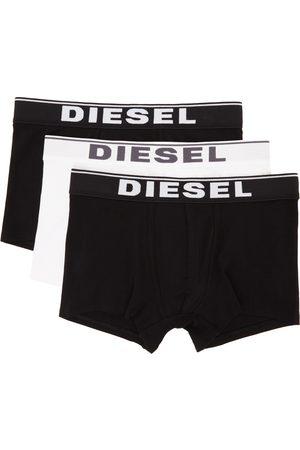 Diesel Three-Pack Black & White UMBX-DAMIENTHREEP Boxers