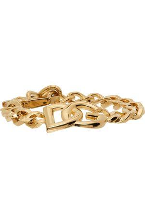 Dolce & Gabbana Men Bracelets - Gold Logo Chain Bracelet