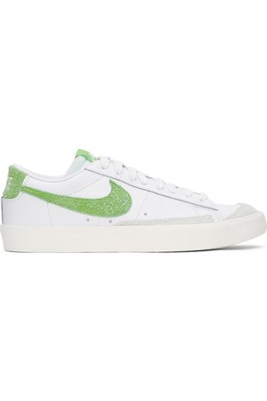 Nike White & Green Blazer Low '77 Vintage Sneakers