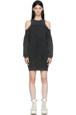 R13 Women Sweatshirts - Black Hybrid Sweatshirt Dress