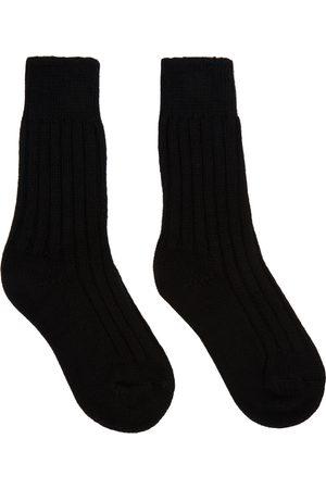 The Elder Statesman Men Socks - Black Yosemite Socks