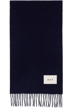 Daniel W. Fletcher Men Scarves - Merino Logo Patch Scarf