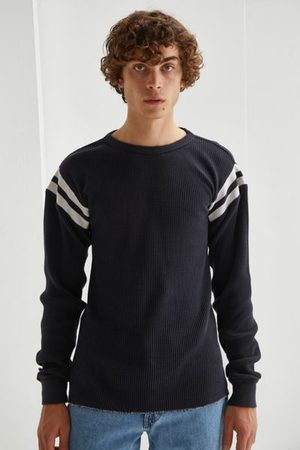 BDG Game Day Waffle Knit Long Sleeve Shirt