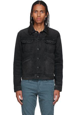 TOM FORD Men Denim Jackets - Black Selvedge Denim Jacket