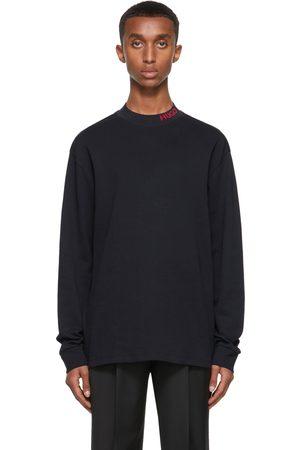 Hugo Navy Dorrison Long Sleeve T-Shirt