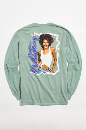 Urban Outfitters Whitney Houston Signature Long Sleeve Tee