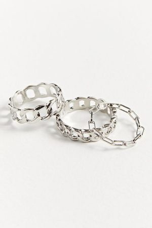 Urban Outfitters Chain Ring Set