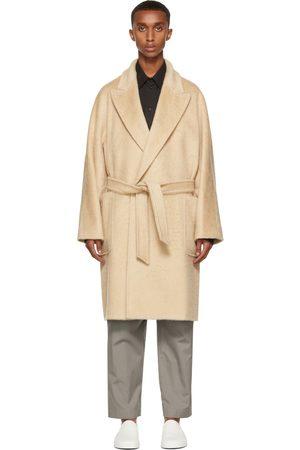 Max Mara Men Coats - Beige Brushed Crine Coat