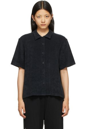 YMC Women Short sleeves - Black Terrycloth Vegas Short Sleeve Shirt