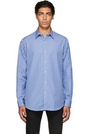 Polo Ralph Lauren Men Shirts - Blue & Navy Striped Poplin Shirt