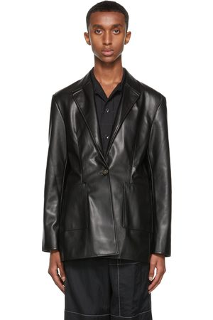 Deveaux New York Vegan Leather Quinn Blazer