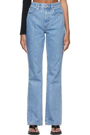 SLVRLAKE Women High Waisted - Blue Charlotte High Rise Bootcut Jeans