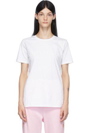 Balmain White & Pink Printed Logo T-Shirt