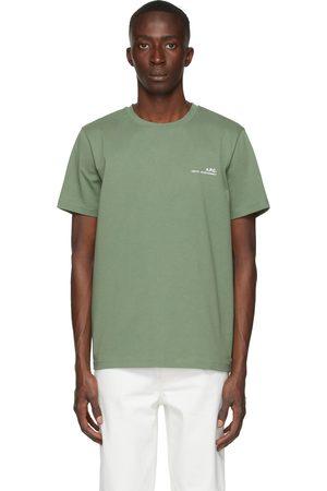 A.P.C. Men T-shirts - Green Item T-Shirt