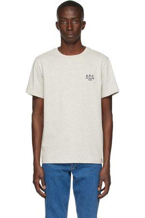 A.P.C. Men T-shirts - Grey Raymond T-Shirt