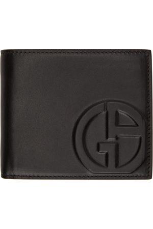 Armani Men Wallets - Black Logo Bifold Wallet