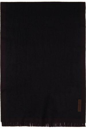 Ermenegildo Zegna Men Scarves - Black & Red Wool EZ Scarf