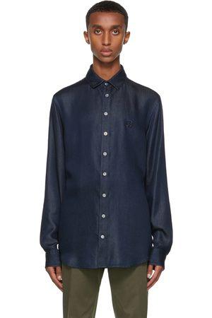 Armani Men Denim - Blue Lyocell Denim-Look Shirt