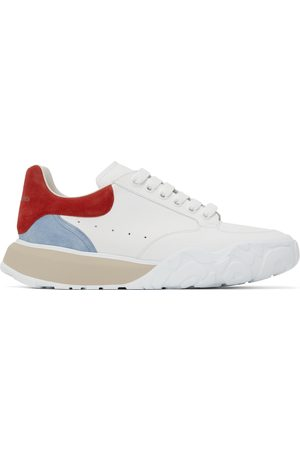 Alexander McQueen Men Sports Shoes - White & Red New Court Sneakers