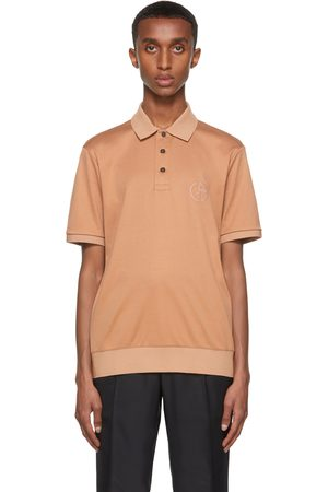 Armani Men Polo Shirts - Orange Organic Cotton Interlock Polo