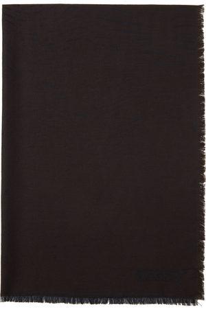 Z Zegna Men Scarves - Brown & Black Animal Print Scarf