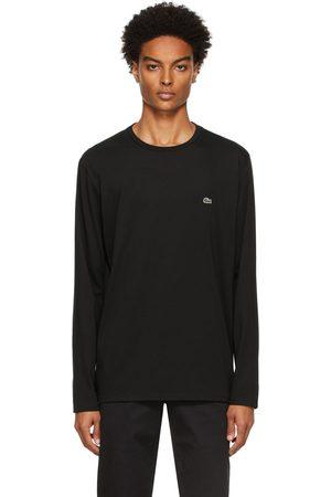 Lacoste Men Long Sleeve - Black Pima Cotton Long Sleeve T-Shirt