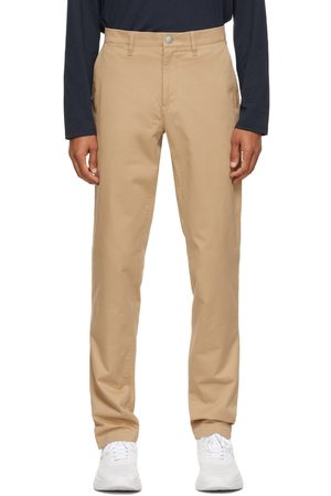 Lacoste Men Chinos - Beige Gabardine Chino Slim Fit Trousers