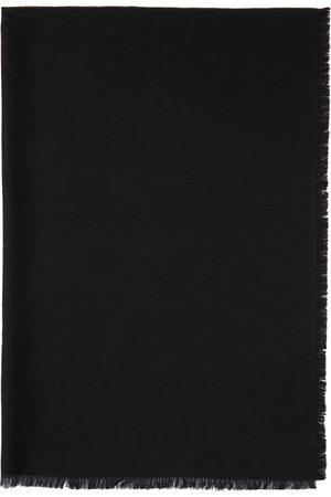Z Zegna Men Scarves - Black Knit Striped Scarf