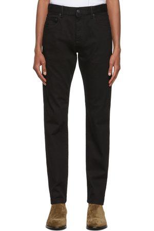 Ermenegildo Zegna Men Stretch - Black Stretch Cotton 5-Pocket Jeans