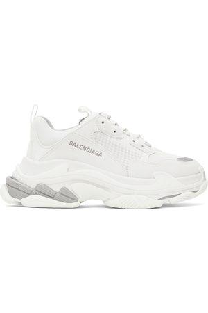 Balenciaga Men Sneakers - White & Grey Triple S Sneakers