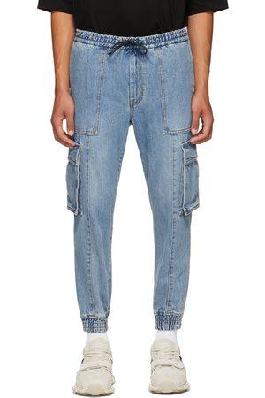 Juun.J Men Cargo Pants - Blue Denim Cargo Pants