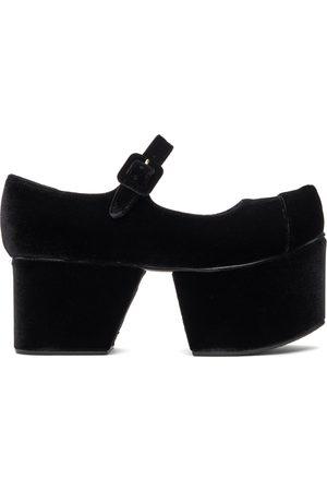 Flat Apartment Women Platforms - Black Pointed Toe Mary Janes Platform Ballerina Flats