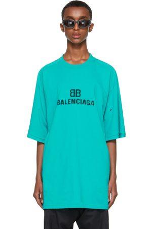 Balenciaga Blue BB Pixel Boxy T-Shirt