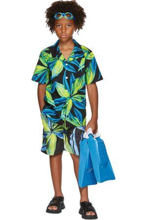 Louisa Ballou Short sleeves - SSENSE Exclusive Kids Blue & Green Graphic Short Sleeve Shirt